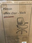 JOHN LEWIS HINTON OFFICE CHAIR - BLACK