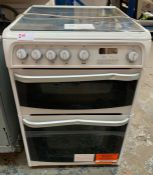 HOTPOINT CH60GCIW GAS DOUBLE COOKER RRP £429