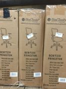 1 LOT TO CONTAIN BCM / T230 ELIZA DINSLEY MEDIUM BACK MESH CHAIR IN BLACK - BOXED