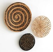 LA REDOUTE PACK OF 3 ASLAL WATER HYACINTH WALL DECORATIONS