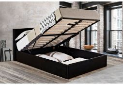 1 LOT TO CONTAIN 90CM BERLIN OTTOMAN BED IN BLACK - IN 2 BOXES