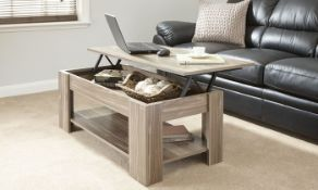 1 LOT TO CONTAIN KIMBERLY LIFT UP COFFEE TABLE IN WALNUT - IN 1 BOX