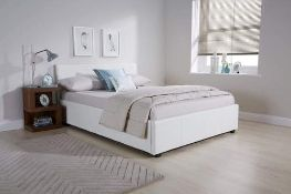 1 LOT TO CONTAIN CASPIAN OTTOMAN BED 90 CM SINGLE IN WHITE - IN 2 BOXES