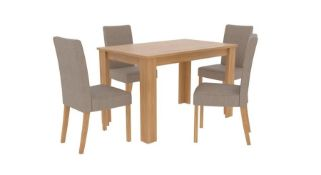 1 LOT TO CONTAIN ATLANTA DINING TABLE IN BIANCO OAK - IN 1 BOX
