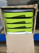 1 LOT TO CONTAIN 4 DRAWER DESK TIDY - BOXED