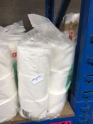 1 LOT TO CONTAIN STAPLES TOILET ROLL 2 PLY WHITE 24 ROLLS X 350 SHEETS - BAGGED