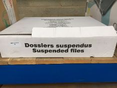 1 LOT TO CONTAIN 50 X GREEN A4 SUSPENSION FILES - BOXED