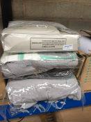 1 LOT TO CONTAIN 4 X DOUBLE SILVER BED BASE WRAPS IN GREY - SEALED AND BAGGED