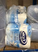 1 LOT TO CONTAIN 40 ROLLS OF NICKY 2 PLY GENTLE TOUCH TOILET TISSUE - BAGGED