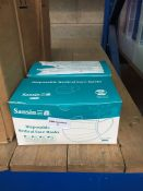 1 LOT TO CONTAIN 100 X SANSIN DISPOSABLE MEDICAL FACE MASKS -BOXED