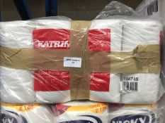 1 LOT TO CONTAIN 48 ROLLS X 2PLY 200 SHEETS KATRIN CLASSIC WHITE TOILET ROLLS - BAGGED