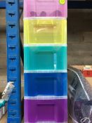 1 LOT TO CONTAIN 5 X 12 L RAINBOW DRAWERS IN PLASTIC