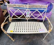 LG OUTDOOR MOROCCO 2-SEAT GARDEN BENCH & CUSHION