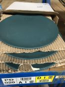 1 LOT TO CONTAIN MELYA SET OF 4 EARTHENWARE DINNER PLATES / ONE PLATE BROKEN