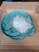 1 LOT TO CONTAIN 1 BAULIN CRINKLED LINEN LAMPSHADE / COLOUR GREEN