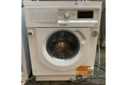 1 LOT TO CONTAIN AN UNTESTED WHIRLPOOL BIWDWG7148 INTEGRATED WASHER DRYER / RRP £455 / USED. NO