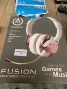 1 LOT TO CONTAIN 1 POWERA FUSION GAMING HEADSET (THIS ITEM IS AN UNTESTED CUSTOMER RETURN. PUBLIC