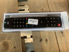 1 LOT TO CONTAIN 1 UNIVERSAL TV REMOTE (THIS ITEM IS AN UNTESTED CUSTOMER RETURN. PUBLIC VIEWING