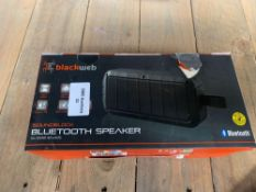 1 LOT TO CONTAIN 1 BLACKWEB SOUND BLOCK BLUETOOTH SPEAKER (THIS ITEM IS AN UNTESTED CUSTOMER RETURN.
