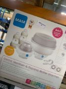 1 LOT TO CONTAIN 1 ELECTRIC STERILISER & EXPRESS BOTTLE WARMER (THIS ITEM IS AN UNTESTED CUSTOMER