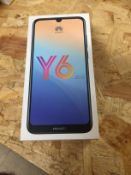 1 LOT TO CONTAIN HUAWEI Y6 2019 MOBILE PHONE / RRP £90.00 (THIS ITEM IS AN UNTESTED CUSTOMER RETURN.