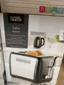1 LOT TO CONTAIN 1 2 SLICE TOASTER (THIS ITEM IS AN UNTESTED CUSTOMER RETURN. PUBLIC VIEWING IS