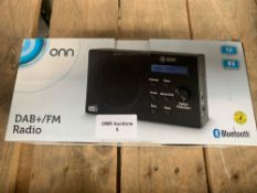 1 LOT TO CONTAIN 1 DAB+/FM RADIO (THIS ITEM IS AN UNTESTED CUSTOMER RETURN. PUBLIC VIEWING IS