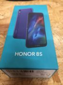 1 LOT TO CONTAIN HONOR 8S MOBILE PHONE / RRP £80.00 (THIS ITEM IS AN UNTESTED CUSTOMER RETURN.