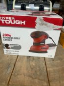 1 LOT TO CONTAIN 1 HYPER TOUGH 230W RANDOM ORBIT SANDER (THIS ITEM IS AN UNTESTED CUSTOMER RETURN.