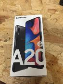 1 LOT TO CONTAIN SAMSUNG A20E MOBILE PHONE / RRP £89.99 (THIS ITEM IS AN UNTESTED CUSTOMER RETURN.