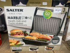 1 LOT TO CONTAIN 1 SALTER MARBLE STONE HEALTH GRILL PANINI MAKER (THIS ITEM IS AN UNTESTED