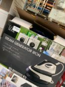 1 LOT TO CONTAIN 1 STEAM GENERATOR IRON / RRP £49.96 (THIS ITEM IS AN UNTESTED CUSTOMER RETURN.