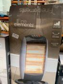 1 LOT TO CONTAIN 1 FINE ELEMENTS PORTABLE HALOGEN HEATER (THIS ITEM IS AN UNTESTED CUSTOMER