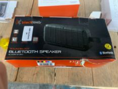 1 LOT TO CONTAIN 1 BLACKWEB SOUNDBLOCK BLUETOOTH SPEAKER (THIS ITEM IS AN UNTESTED CUSTOMER