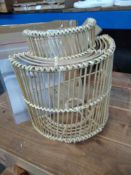 1 LOT TO CONTAIN LA REDOUTE WICKER WALL LAMPSHADE