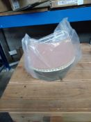 1 LOT TO CONTAIN LA REDOUTE PINK /GREEN WALL LAMPSHADE