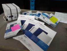1 LOT TO CONTAIN ASSORTED PVC REPORT COVERS AND BINDING COVERS AS PICTURED ALL BOXED