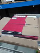 1 LOT TO CONTAIN FELLOWES 10 PACK OF RED CARDBOARD FLAT PACK ARCHIVE / BANKERS BOXES