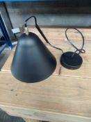 1 LOT TO CONTAIN LA REDOUTE MATT BLACK METAL LAMPSHADE / LAMP