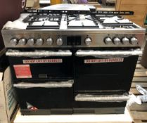 1 UNTESTED STOVES 444410764 DUAL FUEL QUAD OVEN COOKER / RRP £1709.00 / ITEM IS UNUSED, VERY MINOR