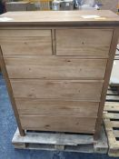JOHN LEWIS WILTON 4+2 DRAWER CHEST IN OAK