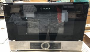 1 UNTESTED BOSCH BFL634GS1B MICROWAVE OVEN / RRP £560.00 / ITEM IS UNUSED, NO VISIBLE DAMAGE