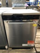1 LOT TO CONTAIN AN UNTESTED WHIRLPOOL WFO3P33DLX / RRP £500.00 / USED, TOP FRONT EDGE IS CRACKED,