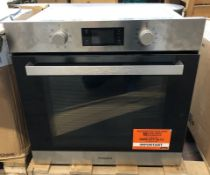 1 UNTESTED HOTPOINT SA3540HIX SINGLE OVEN / RRP £249.00 / ITEM IS UNUSED, DINT IN THE TOP CASE