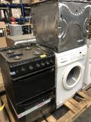 1 LOT TO CONTAIN 3 UNTESTED APPLIANCES IN POOR CONDITION, HOTPOINT DOUBLE OVEN, MIELE SINGLE OVEN