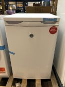 1 LOT TO CONTAIN AN UNTESTED HOOVER HFZE54W UNDERCOUNTER FREEZER / RRP £199.99 / ITEM IS