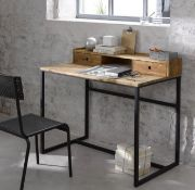 LA REDOUTE HIBA INDUSTRIAL STYLE DESK IN METAL & OAK