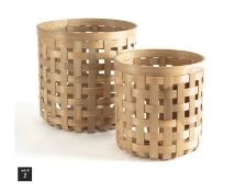 LA REDOUTE YADIEL BAMBOO BASKETS, SET OF 2