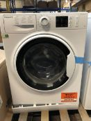 1 LOT TO CONTAIN AN UNTESTED HOTPOINT NM10944WWUK WASHING MACHINE / RRP £279.99 / ITEM IS UNUSED,