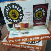 1 LOT TO CONTAIN 3 X CRAFT BEER TASTING KITS BOXED